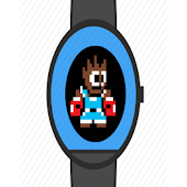 Retro fight game watch face