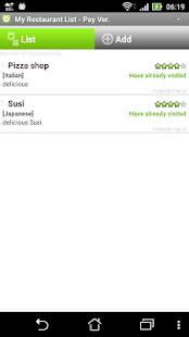 My Restaurant List - náhled