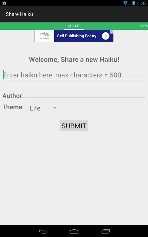 Share Haiku- screenshot