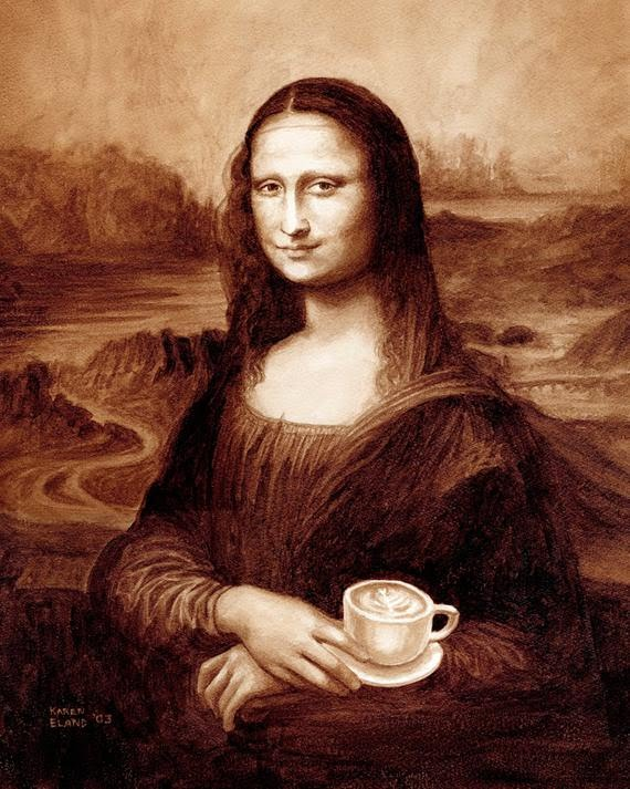 coffee art Mona Latte ( source: Etsy )