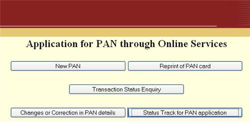 PAN Card Enquiry Details