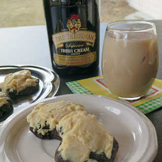 Irish Cream Kissed Chocolate Cookies #FillTheCookieJar