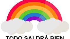 El arco iris todo un símbolo infantil para visibilizar el coronavirus.