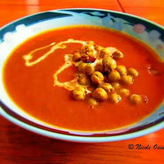 Creamy Tomato Soup with Italian Roasted Chickpeas.
