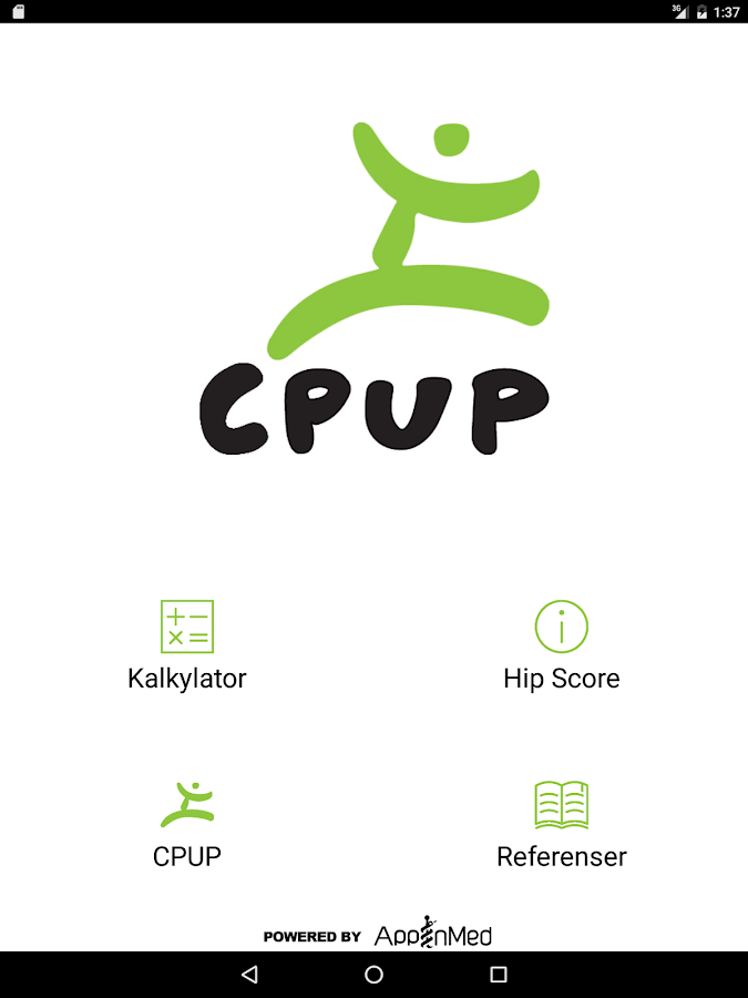 CPUP Hip Score- screenshot