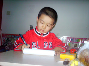 Photo: old photos from emakingir: baby son, warrenzh, in writing.