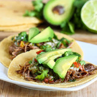 Crock Pot Beef Carnitas Tacos.