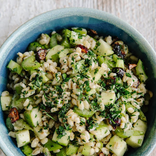 Barley Salad with Figs and Tarragon-Lemon Dressing.