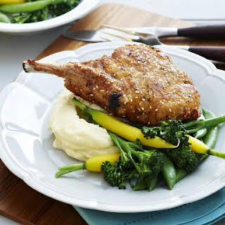 Sesame and Parmesan Pork Chops.
