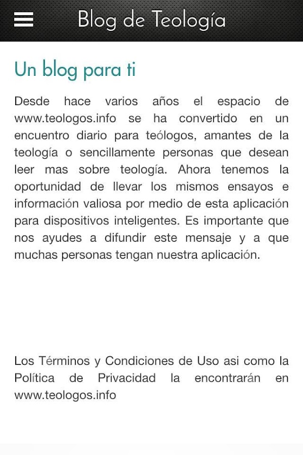 Blog Teología- screenshot