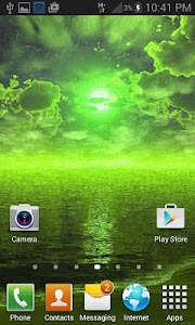 Green Weather Live Wallpaper screenshot 1