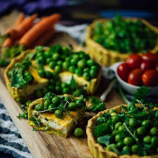 Peas and Herbs Cheese Tarts.