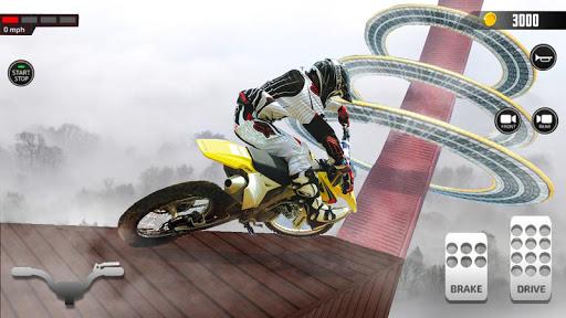 Impossible Mega Ramp Moto Bike Rider Stunts Racing screenshots 9