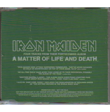 CD - A Matter Of Life And Death