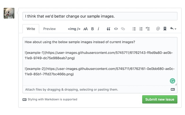Image markdown converter