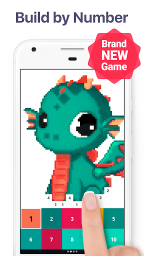 Pixel Art: Build by Number Game screenshot 1