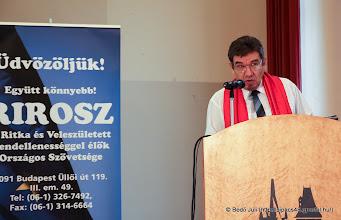 Photo: Pogány Gábor a RIROSZ elnöke - megnyitja a rendezvényt
