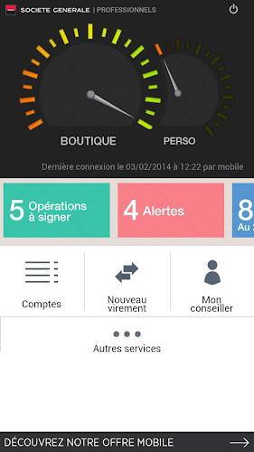 L'Appli Pro Société Générale Android App Screenshot