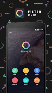 FilterGrid - Photo Editor: miniatura da captura de tela
