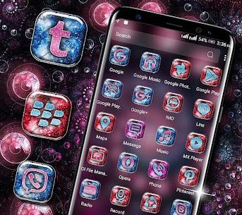 Neon Spiral Circle Launcher Theme 2