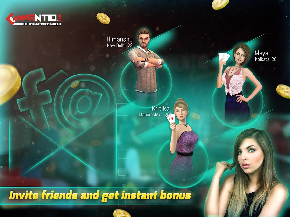 Gamentio 3D: Teen Patti Poker Rummy Slots +More- screenshot