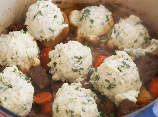 Beef And Stout Stew With Herb Dumplings