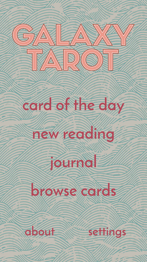 Galaxy Tarot Pro- screenshot