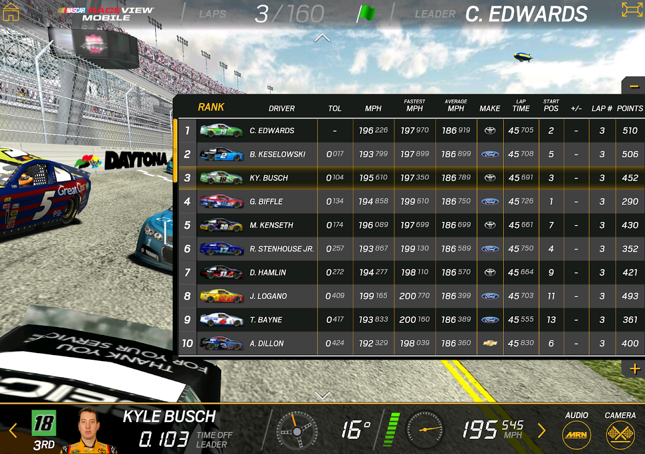 NASCAR RACEVIEW MOBILE- screenshot