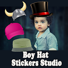 Boy Hat Stickers Studio For Handsome Looks icon