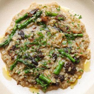Mushroom and Asparagus Risotto.