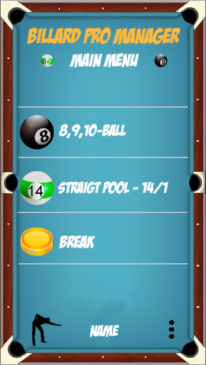 Billard Manager Pro screenshot 1