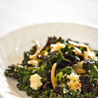 Roasted Kale with Crumbled Feta.