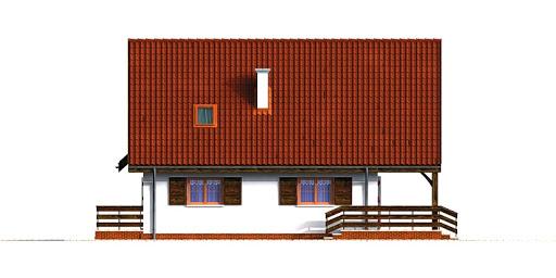 Dom przy Grabowej - Elewacja prawa