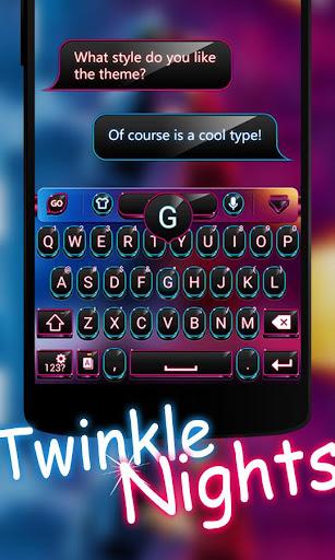 Twinkle Night GOKeyboard Theme