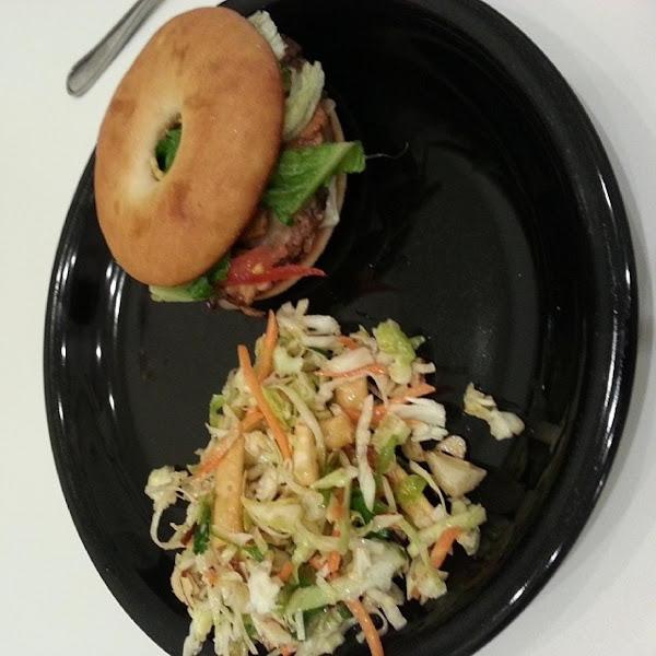 Bagel Burgers With Mushrooms Recipe