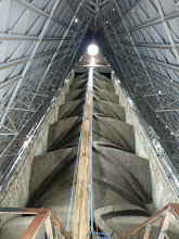Photo: View of the catwalk inside the false roof, from the base of the rear tower