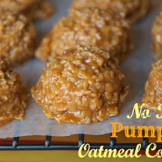 No Bake Pumpkin Oatmeal Cookies.