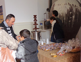 Photo: Chocolate fountain at piazza Carmine Choccy fayre
