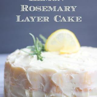 Fluffy Lemon-Rosemary Layer Cake