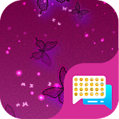 Purple Butterfly SMS Theme
