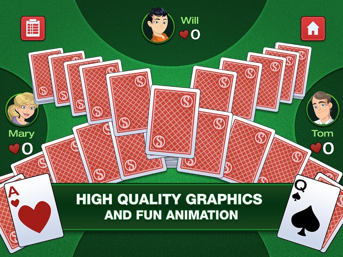 simple hearts classic card game android apps on google play