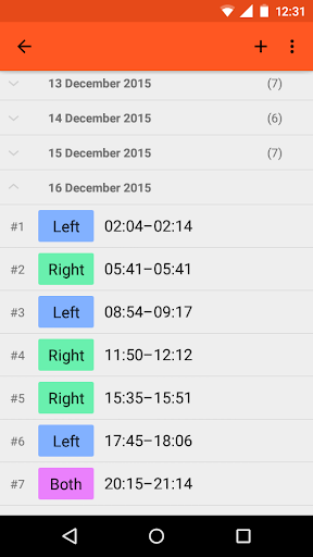 FeedTimer – Baby feeding diary screenshot