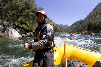 Photo: White water rafting on the Tuolumne River, near Yosemite National park, CA.
