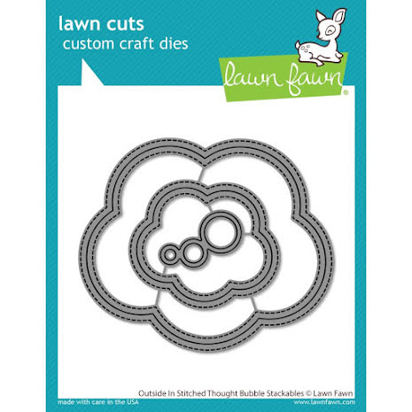 Lawn Fawn Dies - Outside In Stitched Thought Bubble