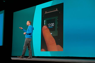 """Photo: While Dave Singleton talked about Android Wear, which extends Android, and its ecosystem of apps, to that most familiar spot for a """"wearable,"""" your wrist.  http://developer.android.com/wear/index.html"""