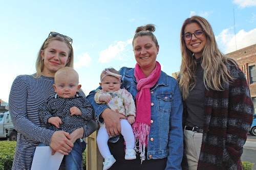 ess Scott with runner-up Reign Scott, Leesa Small with winner Olivia Small and The Courier's advertising consultant Alex Christakos following the announcement of the results of The Courier's Narrabri Shire's Cutest baby competition yesterday. I