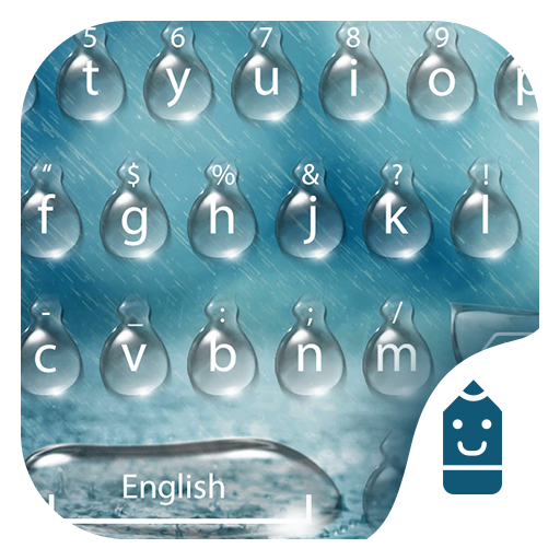Spring Rain Emoji Keyboard