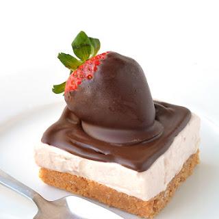 Strawberries and Cream Cheesecake Bars.