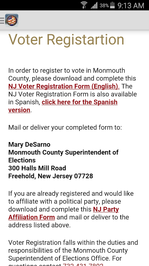 Monmouth County Votes- screenshot