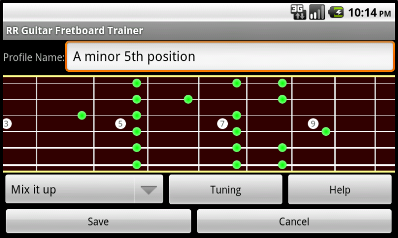RR Guitar Fretboard Trainer- screenshot